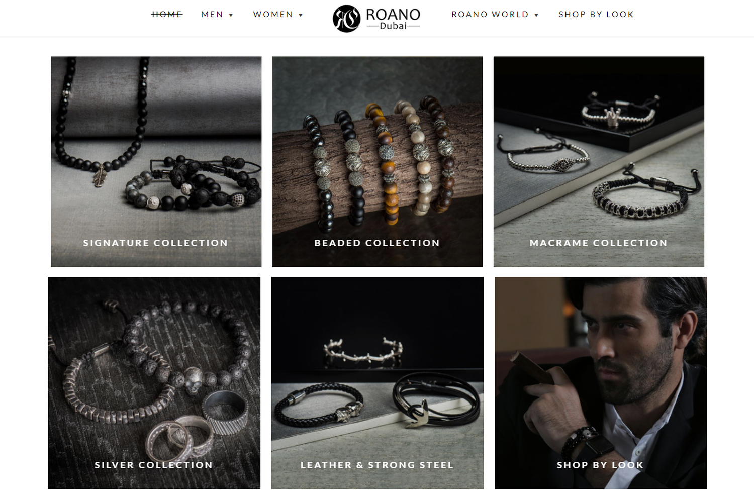 Roano homepage section
